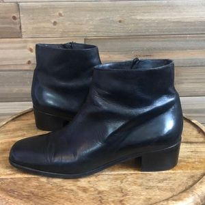 Cole Haan Black Leather Bootie Size 9
